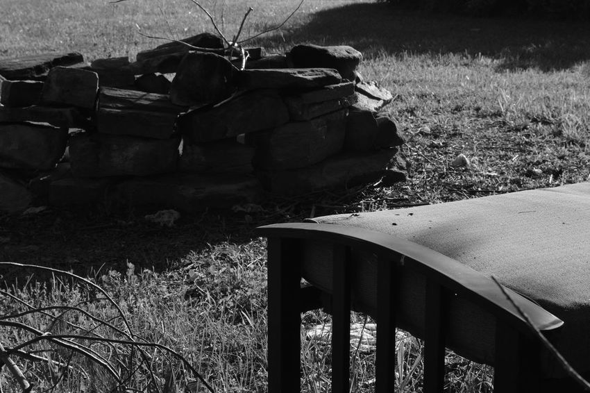 Bench Blackandwhite Contrast Day Field Grass Light And Shadow Nature No People Outdoors Scenics Summer Tree Wood BYOPaper!
