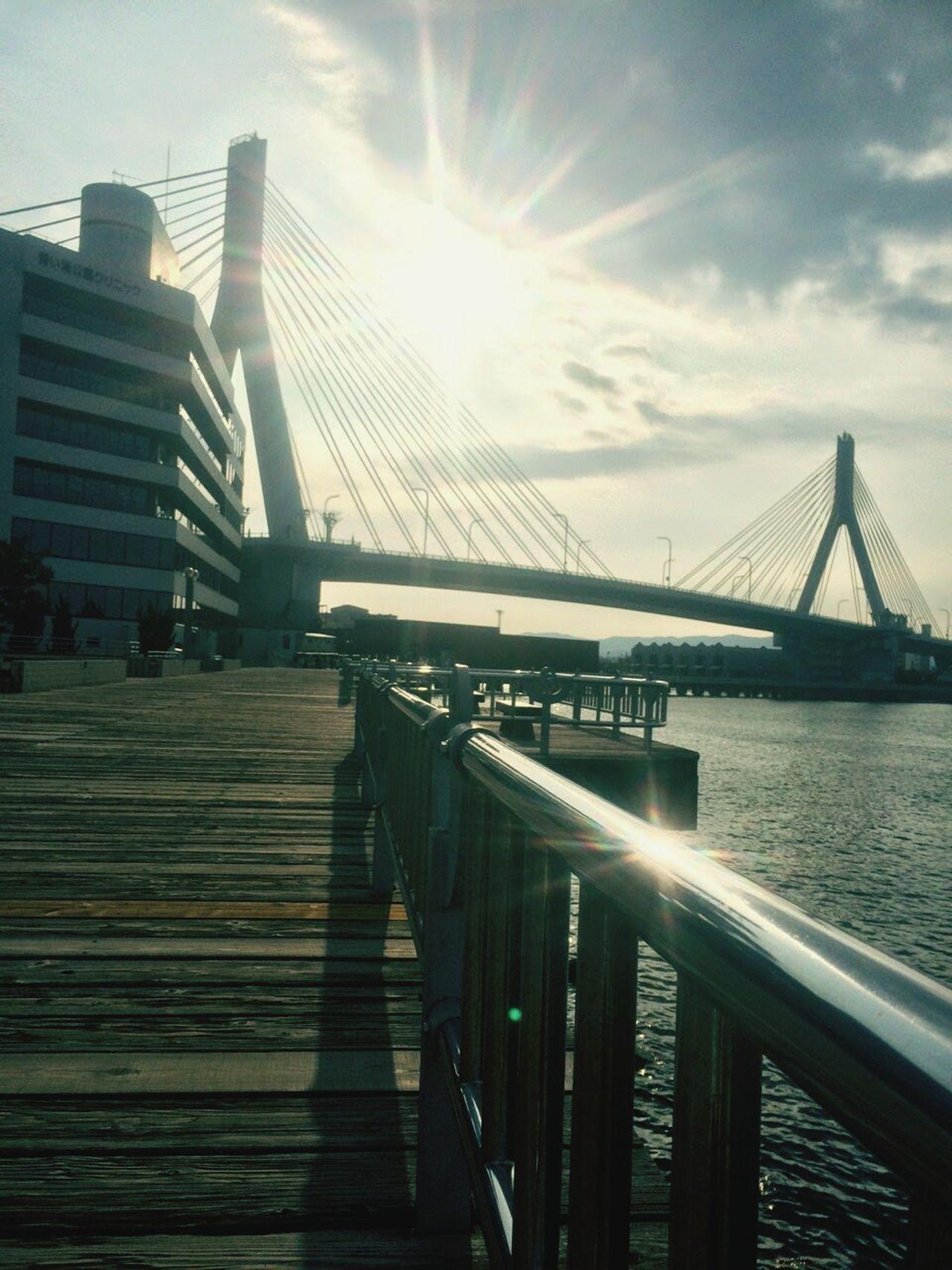 River Bridge Bridge View Bridge Over Water Bridge View Evening Sky Evening Evening Sun Evening Photography Shine Shine Bright Road Continue