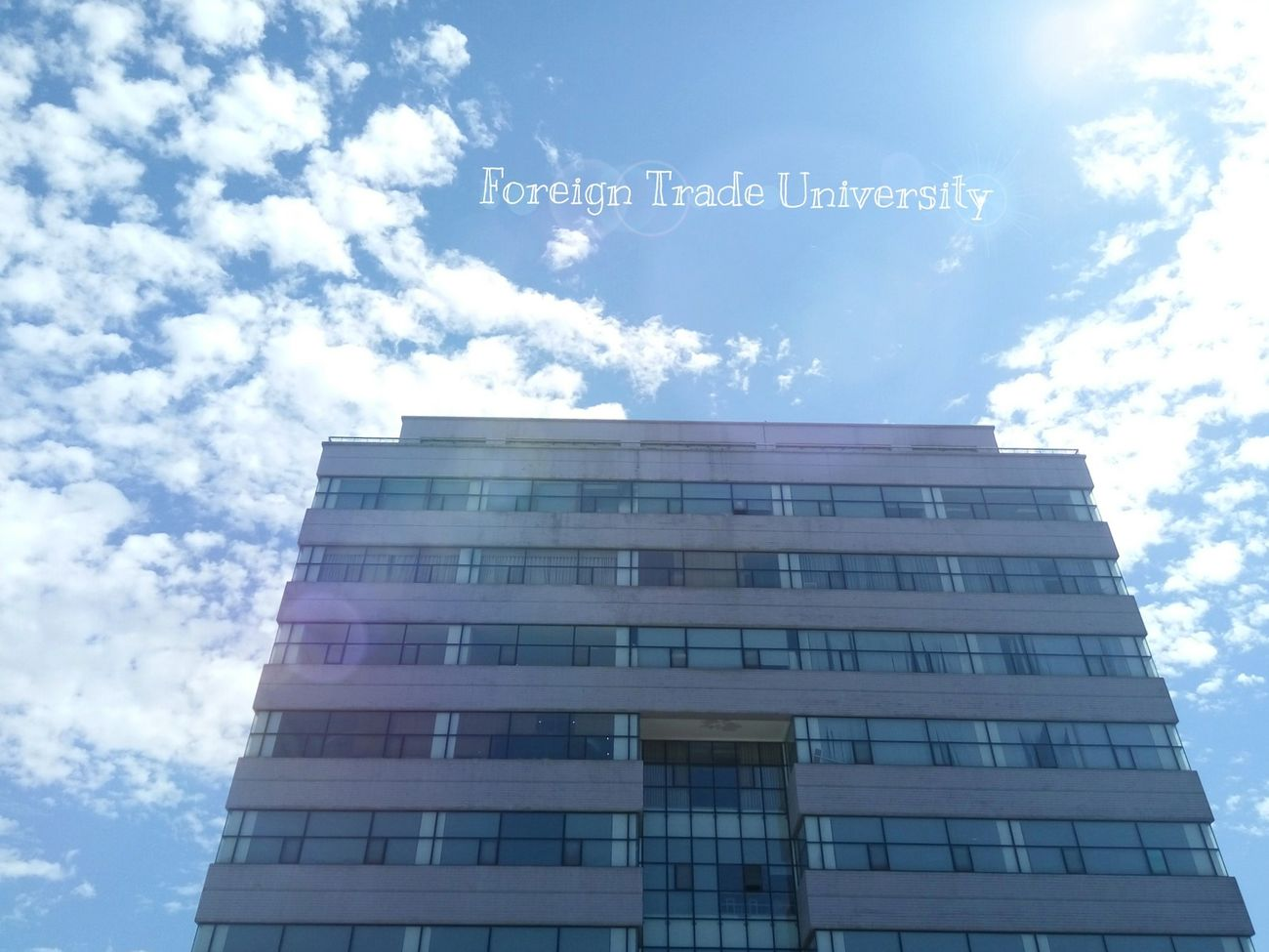 FTU in my eyes 😊 MyUniversity Ftu Foreign Trade University  Hanoi, Vietnam On Sunny Day Sohot