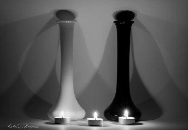 Angel and Demon Abstract Candle Light Candle Flame Composition Black And White Photography Candlelight Creative Light And Shadow Glass_collection Beautifull Creature Shadows & Lights Candle Black And White Beauty In Ordinary Things Glass Shadows And Backlighting Beautifull Composition