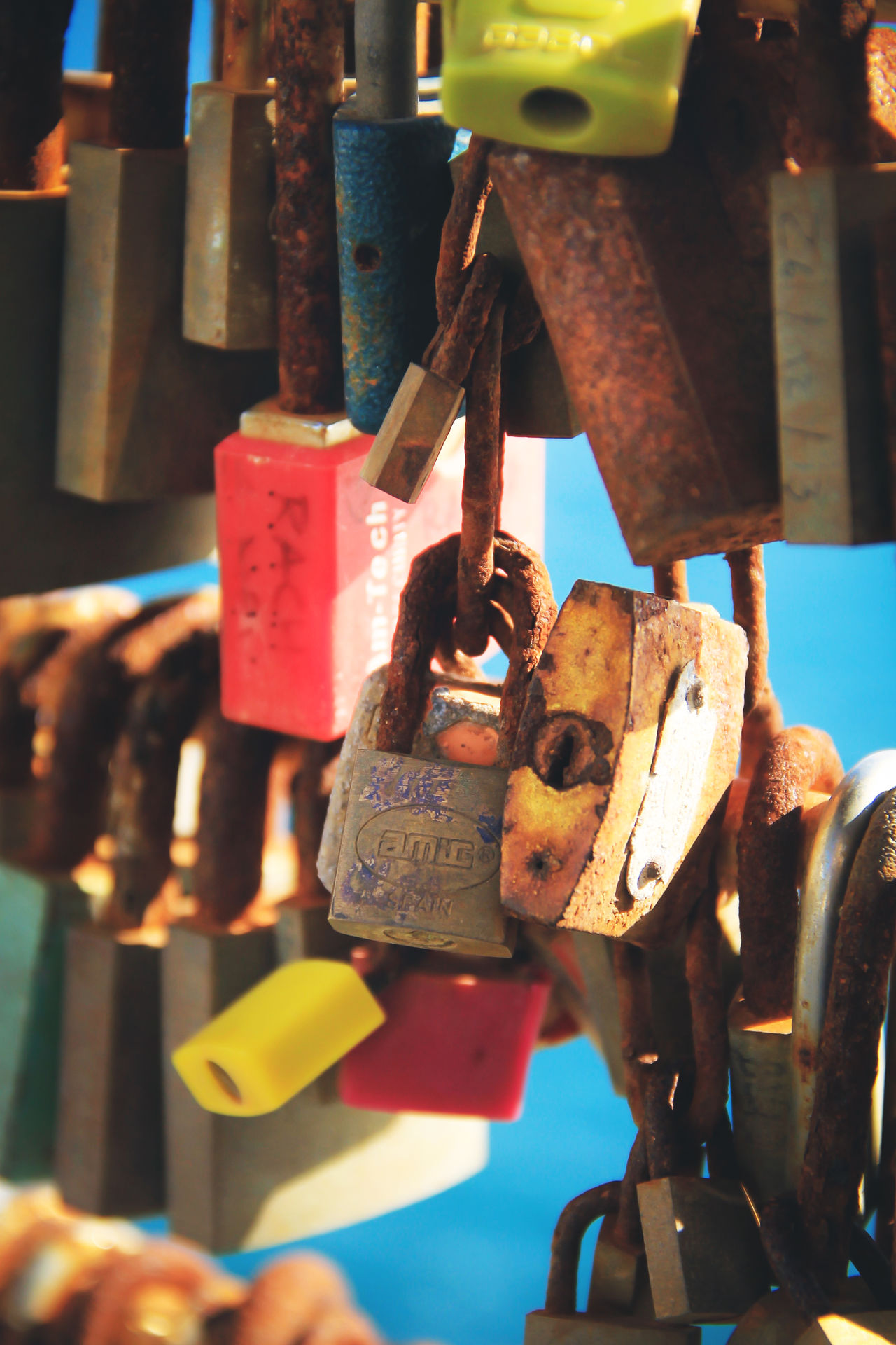 Close-up Day Hanging Hope Large Group Of Objects Lock Love Love Lock Many Metal No People Padlock Rusty