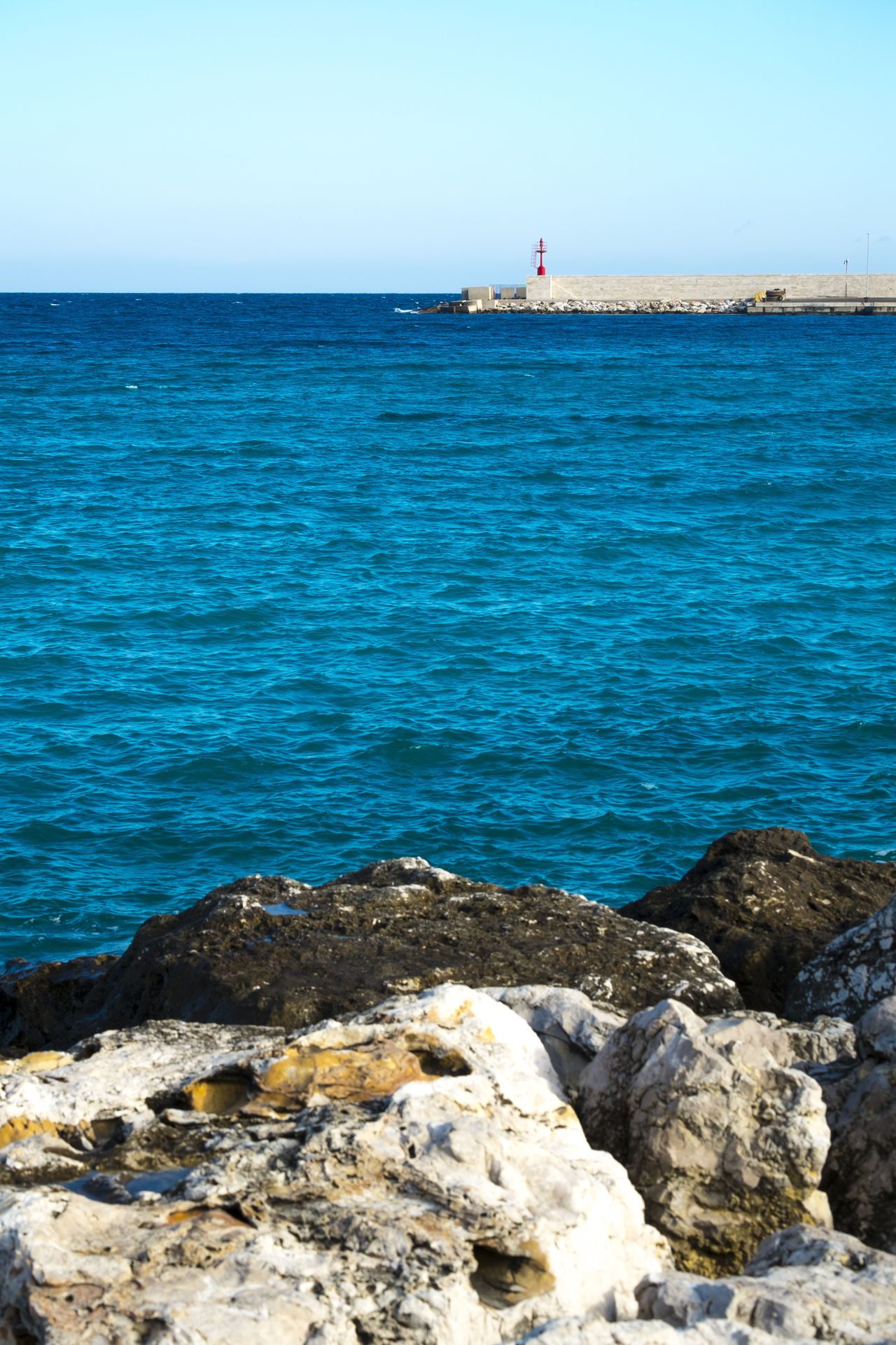 Beach Beauty In Nature Clear Sky Day Horizon Horizon Over Water Italy Nature Nautical Vessel No People Otranto Outdoors Puglia Salento Sea Sky Sunlight Sunny Water Yachting