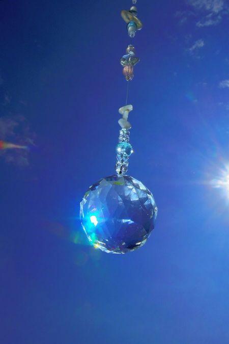 Sun Catcher Crystals Healing Stones Japan Photography Catching A Sun Crystal Ball Pentax PENTAX Q No People Skyporn Bluesky Sky Porn Sky