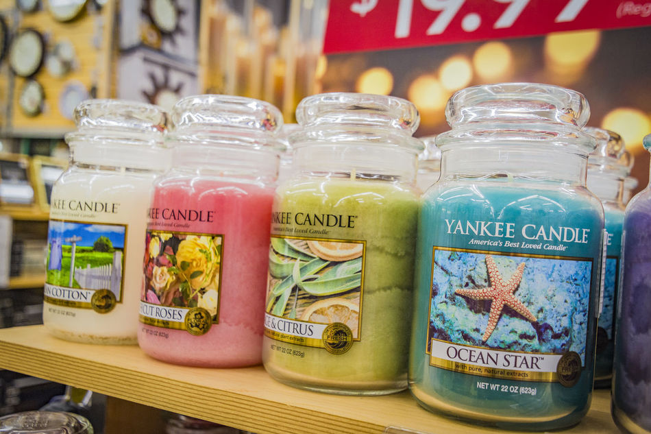 Abundance Candles Choice Close-up Communication Day Food Food And Drink For Sale Freshness Healthy Eating Indoors  Jar Large Group Of Objects No People Price Tag Retail  Text Variation Western Script Yankee Candle Bed Bath And Beyond