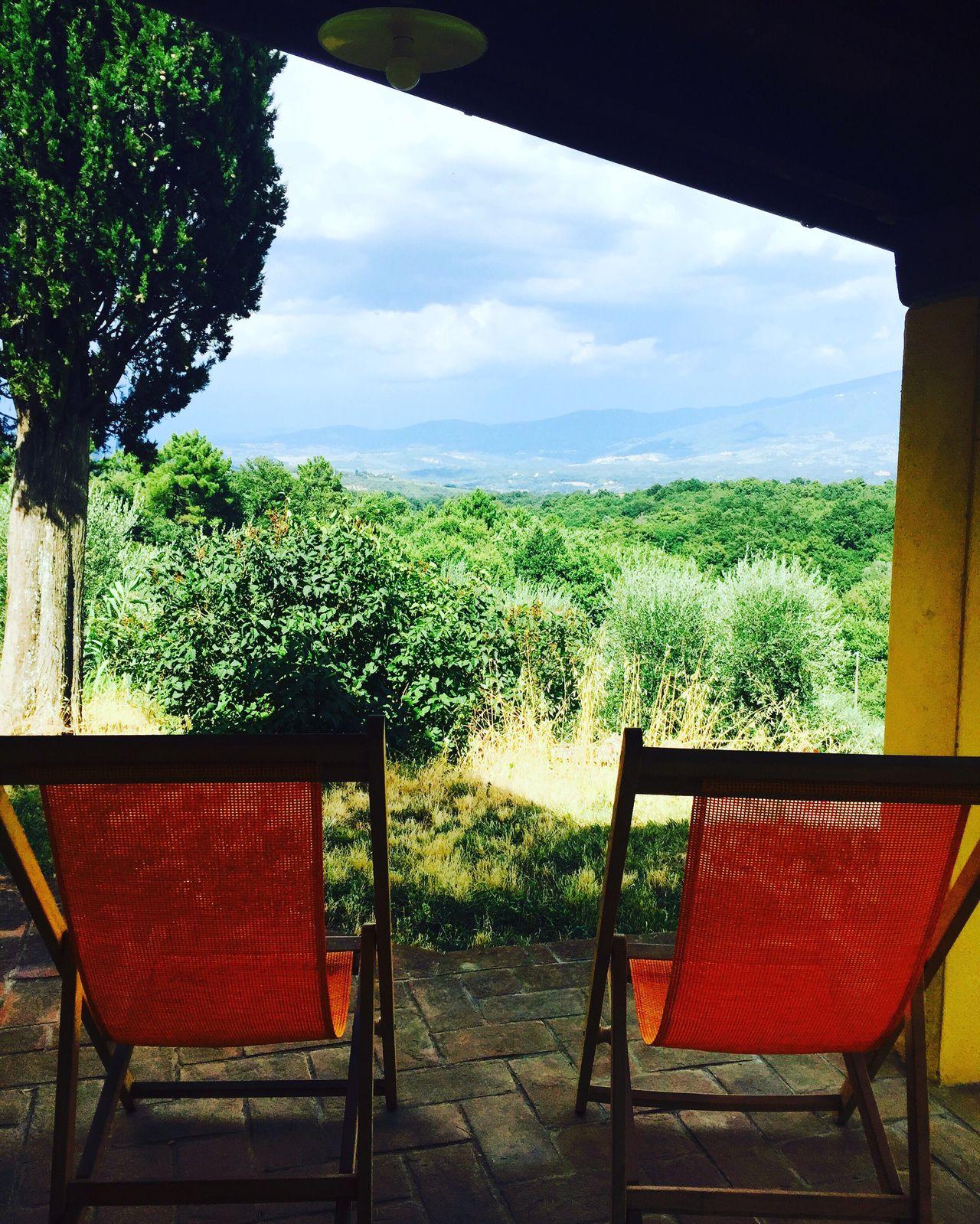 Tuscany Italy Poderacciofarm Organicfarm View Farmstay Deckchairs Summer Relaxing EyeEmNewHere