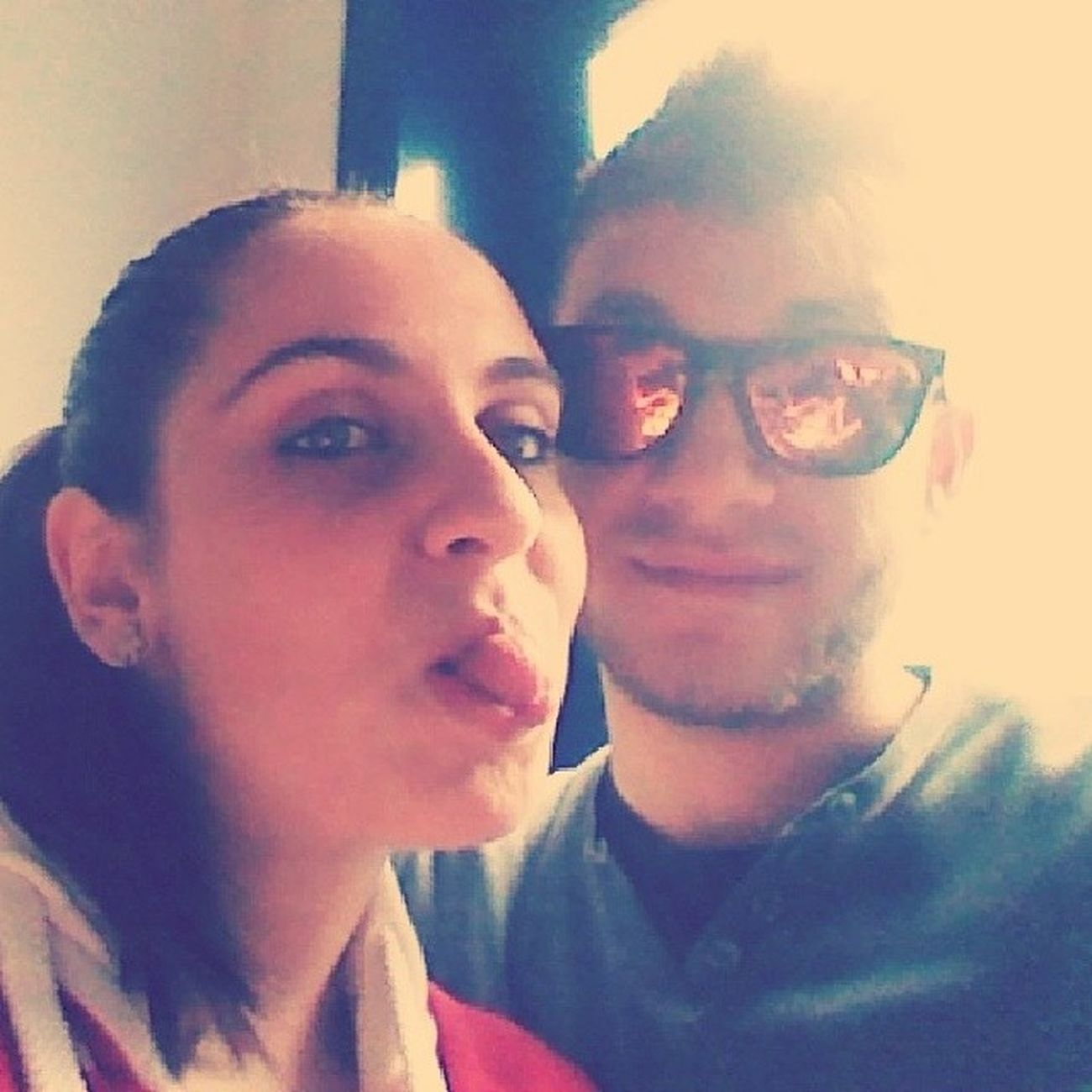Me Mycousin Girl Boy Loveher Inclassroom AtSchool Flaccothebest Sunglasses Photograph