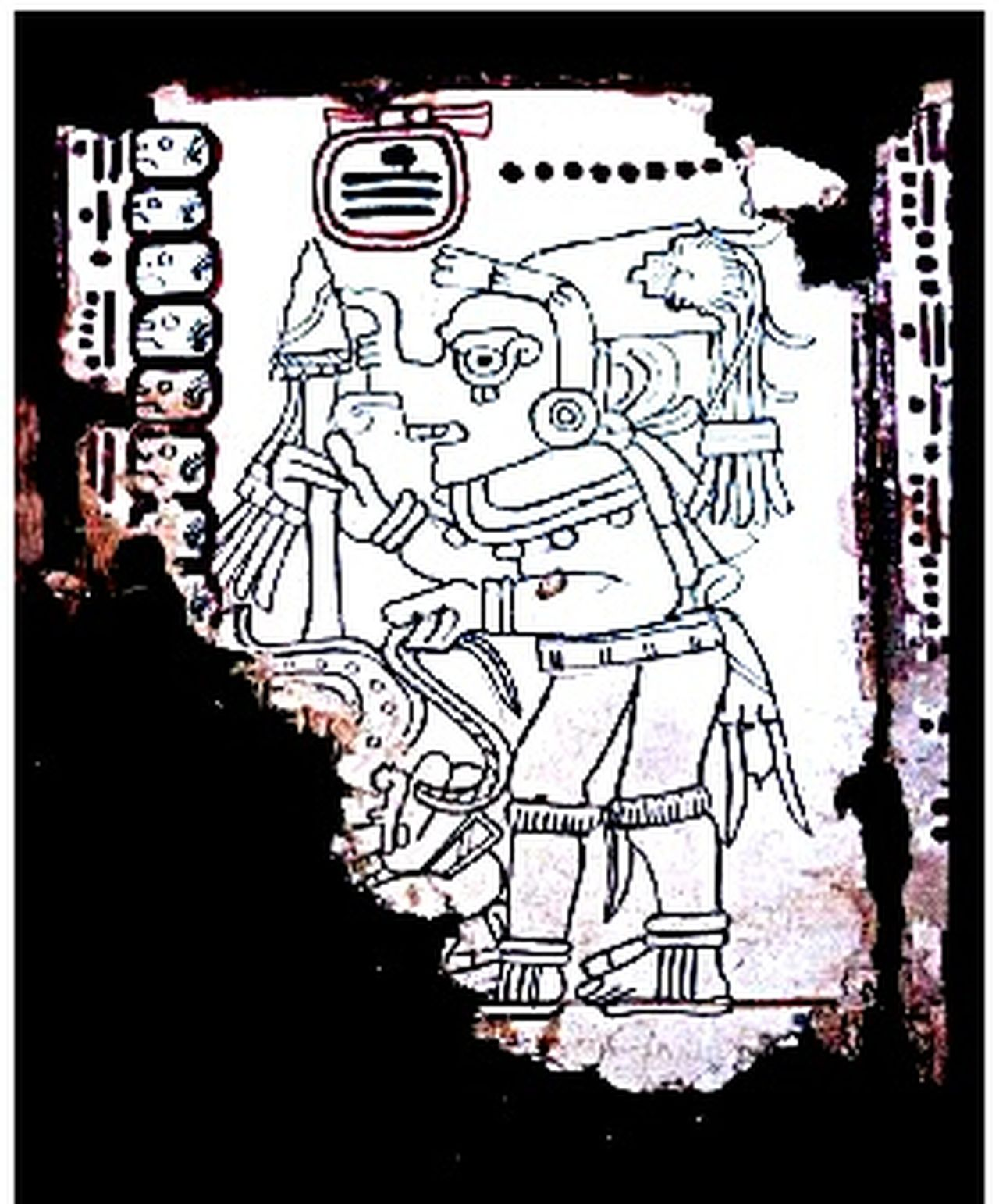 Yet another page from the Grolier Codex..... Mayan art. Magic Taking Photos Loving Life! ! ! Research And Development