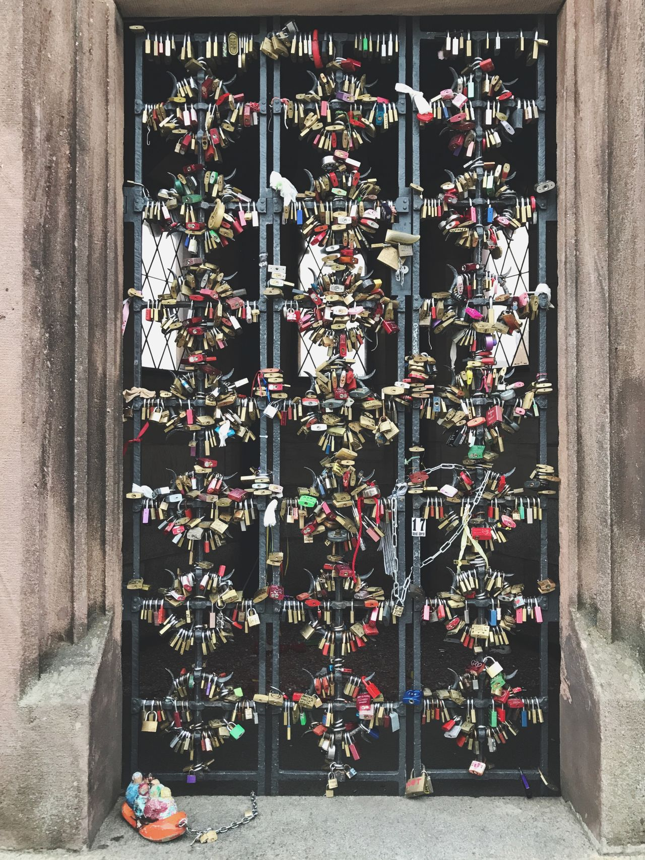Basel Door Love Lock Love Locks Locks Urban Abundance Large Group Of Objects