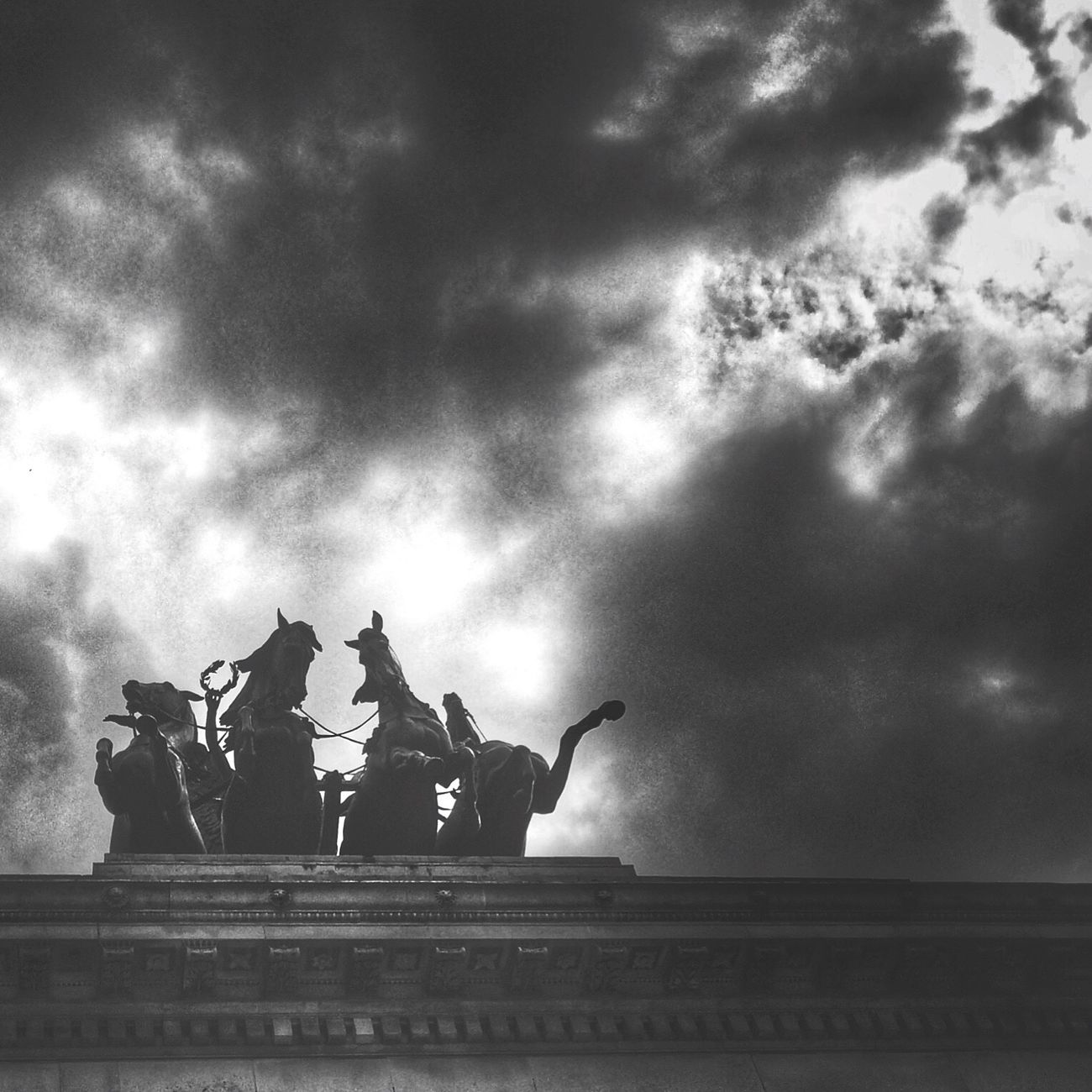 Cloud - Sky Statue Sculpture City Architecture Sky Eye4black&white  Captured Moment