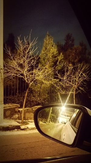 In da car... Pireaus Trees Wintertime My Smartphone Life Sunset Mirror Reflection Seathrough Perspective High HillShowcase: February Learn & Shoot: After Dark