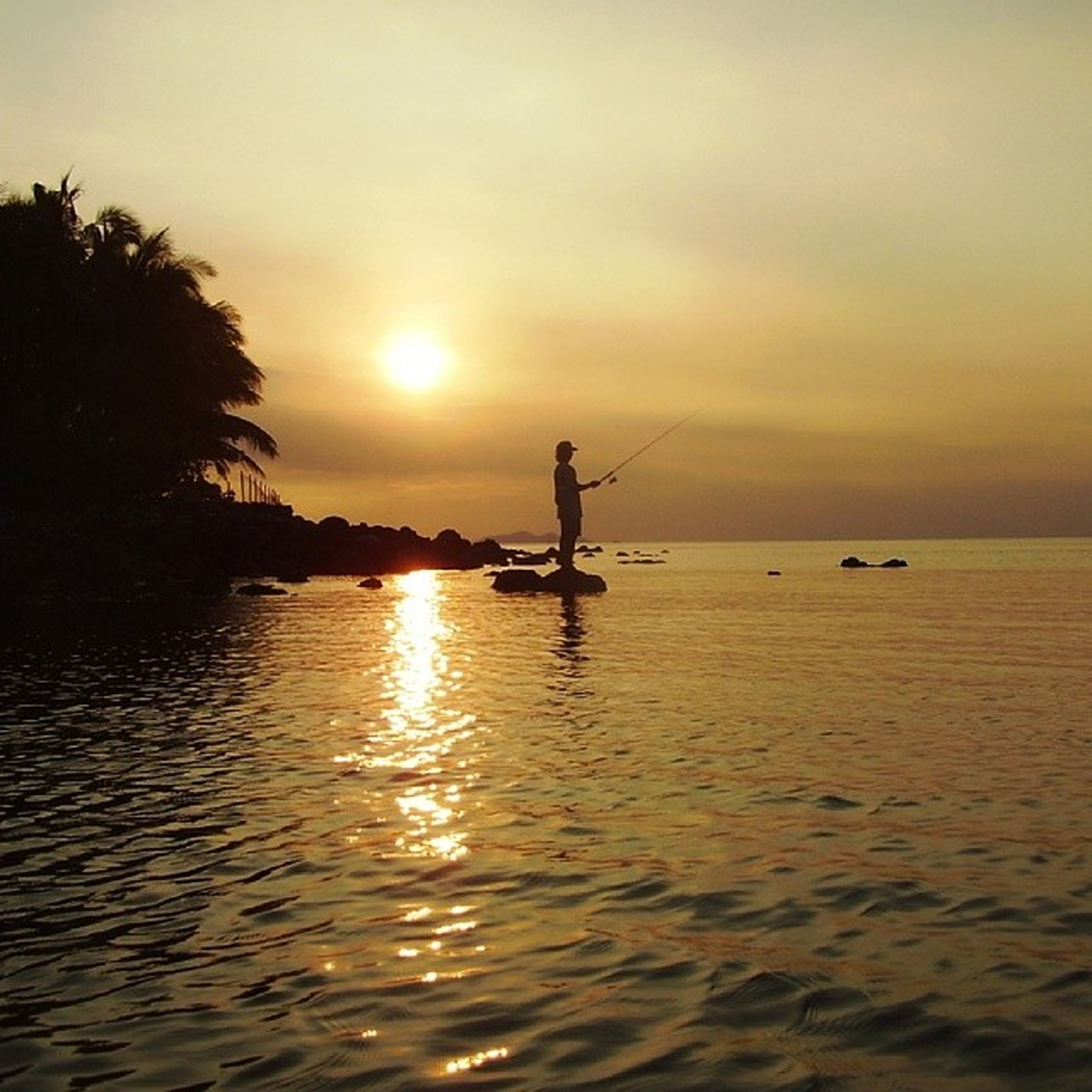 sunset, water, sun, sea, silhouette, scenics, tranquility, tranquil scene, waterfront, sky, nautical vessel, beauty in nature, reflection, transportation, orange color, nature, boat, idyllic, horizon over water, mode of transport