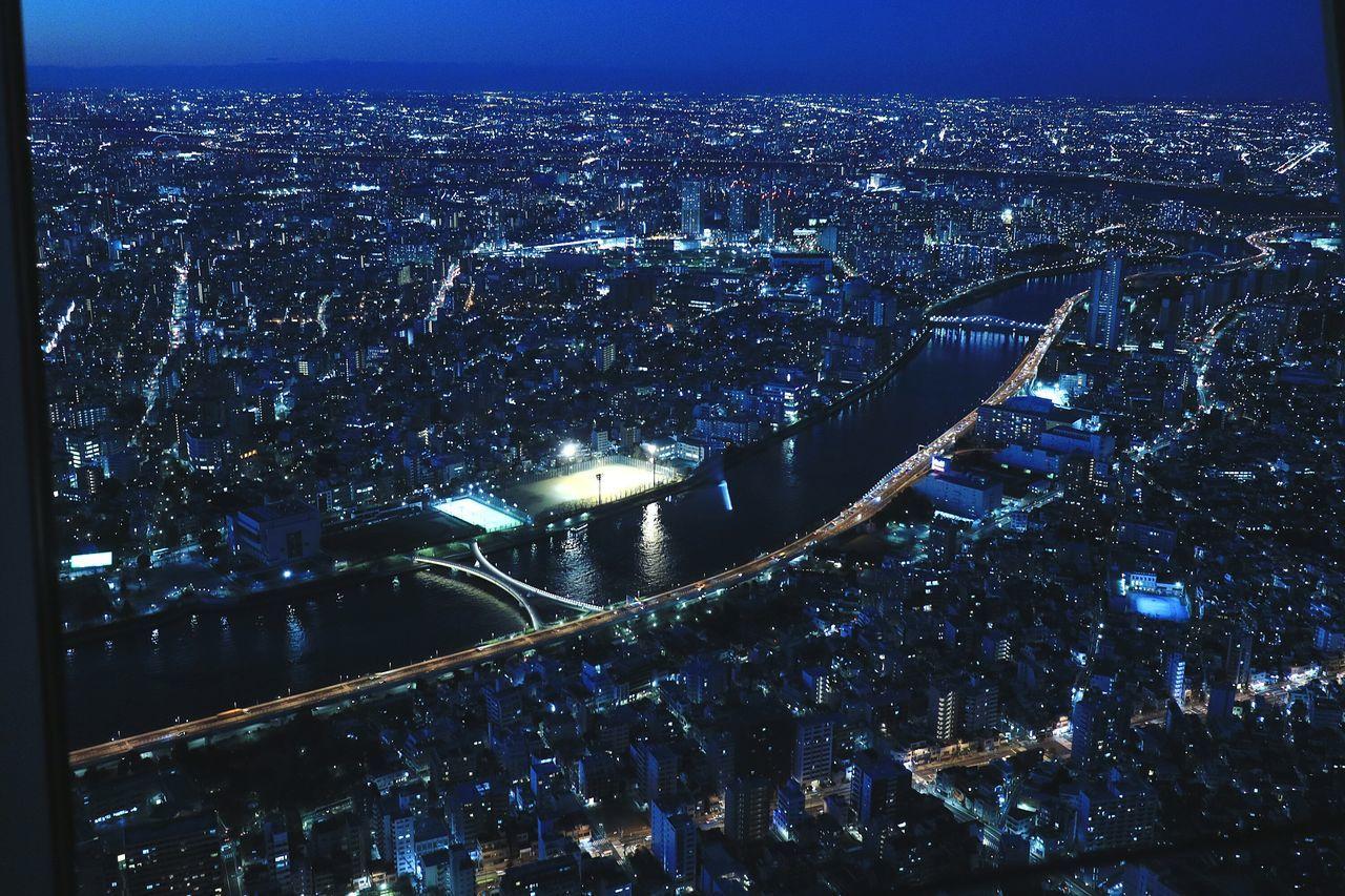 Night Illuminated Nightphotography Nightview Nightscape Tokyo Japan Tokyoskytree Skytree River Sumidariver