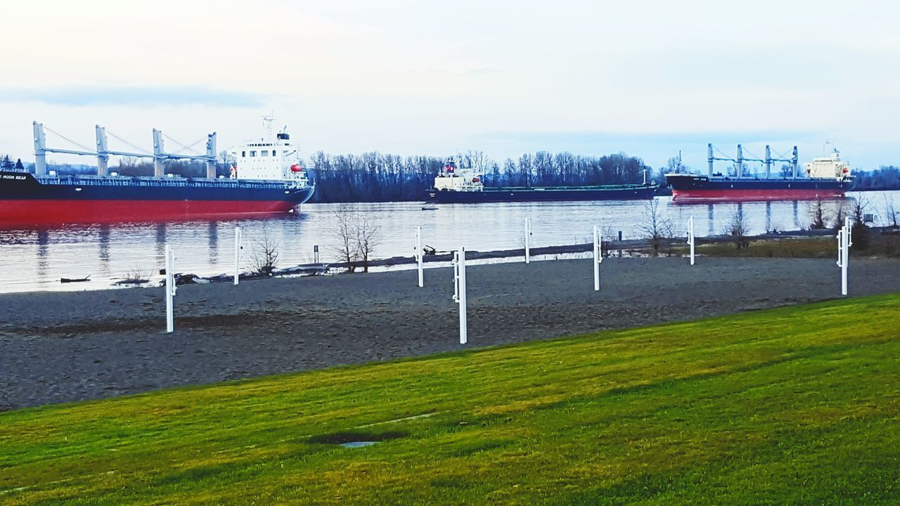 Beach Water Nature Grass Nautical Vessel Horizon Over Water Pnwnaturescapes PNWonderland Ships On The Water ShipSpotting Ships Ships🚢 Shipping  Riverbank Riverside Photography Columbiariver Columbia River, WA River Columbia River Transportation Ship Freight Transportation Industry Commerce Commerce On The Move