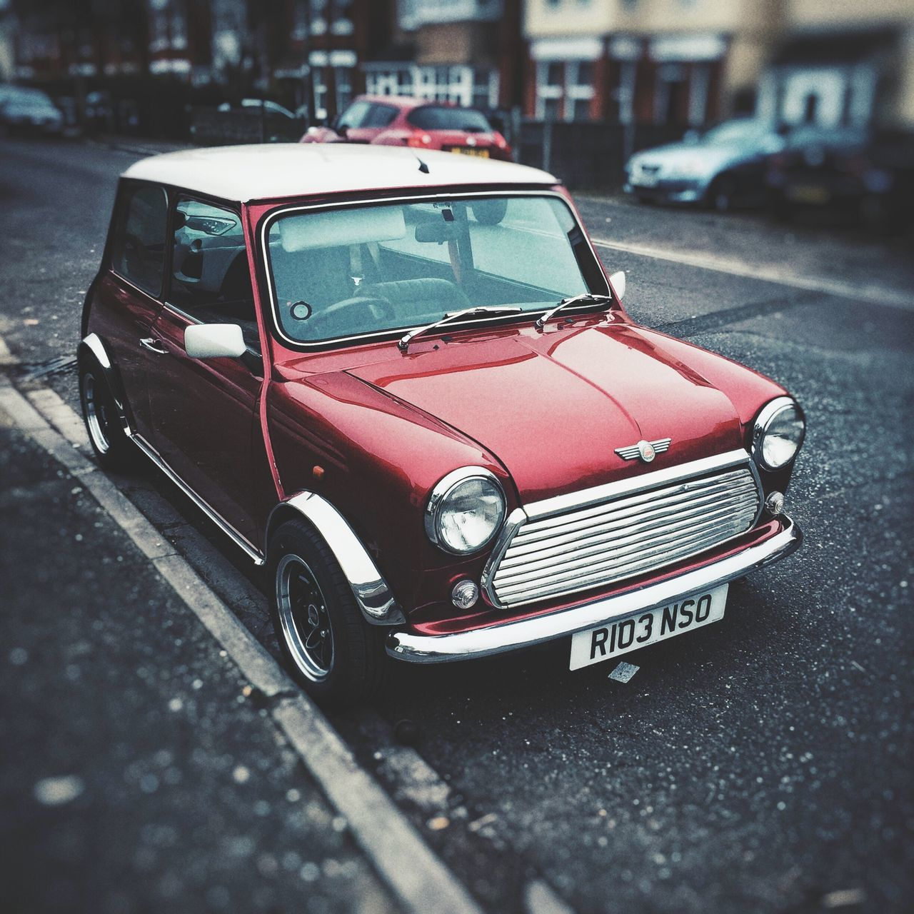car, transportation, red, land vehicle, old-fashioned, retro styled, day, architecture, building exterior, outdoors, no people, city