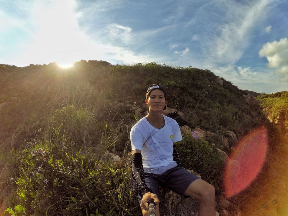 Dumbbell Island Cheung Chau.Hongkong Wonderful Nature Go Hiking Before Sunset