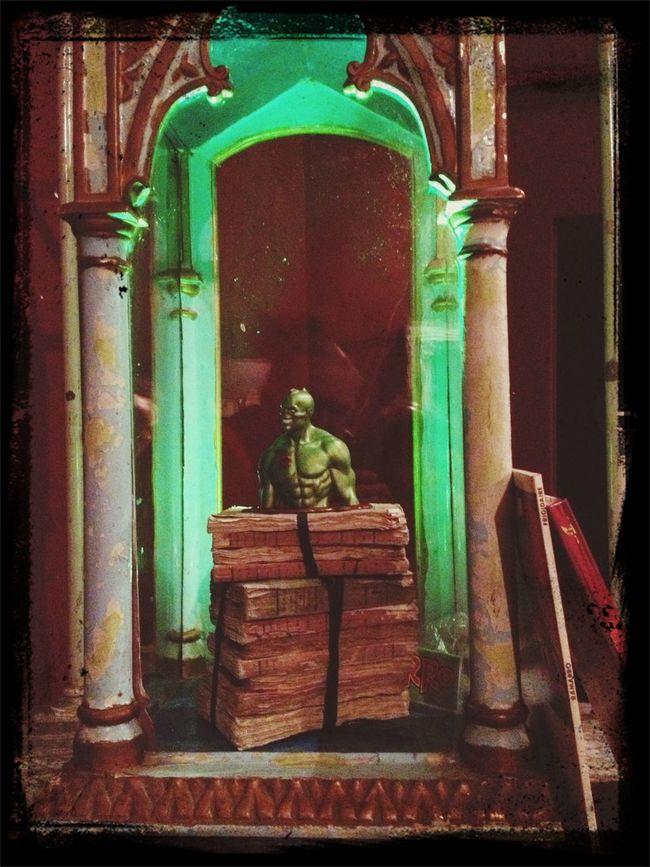 Dalla mostra di Giuseppe Palumbo a Bologna presso Camera con vista: il tempietto di San Ramarro ;-)