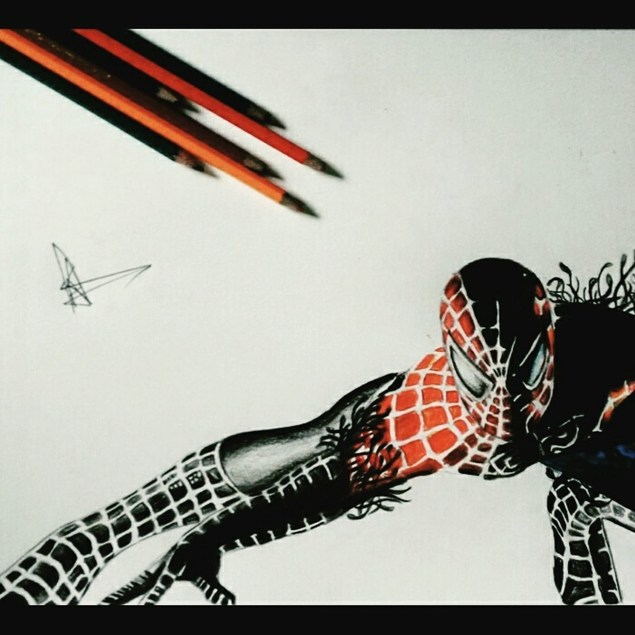 """ Spiderman Realistic sketch."" Instalike Insragrammers Instaart Instaartwork Instaartsy 141 Mobography Marvel Spiderman Realistic Realistic Art Colourful Venom Sketch Art ArtWork Art, Drawing, Creativity Sketchoftheday  Sketching Artistic Photo Artsy SketchUp Close-up Sketchoftheday  Artistic Quicksketch"