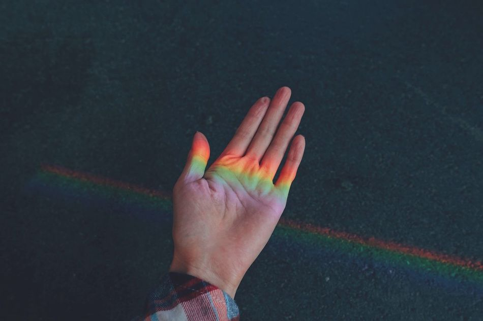 Rainbow in my hand 🌈✨//. Human Hand Human Body Part One Person Multi Colored Close-up People Day Focus On Foreground Love Nature Minimalism Enjoying The Sun Enjoying Life Lifestyles Fun Sunlight Colorful Colors Rainbow Colors Rainbow Life Hand Sweet The Secret Spaces EyeEm Diversity Art Is Everywhere Break The Mold TCPM