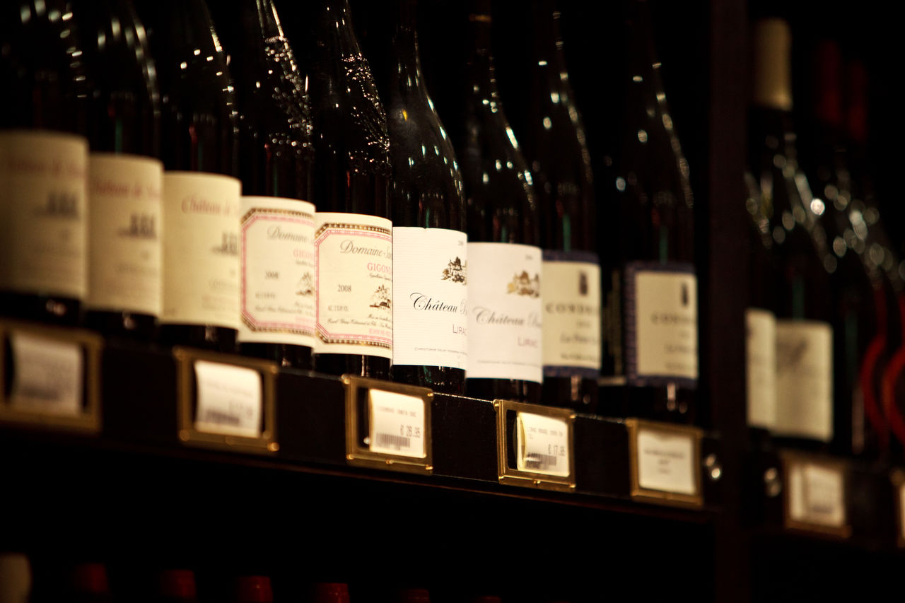 Premium wines Abundance Arrangement Close-up Communication Day In A Row Indoors  Large Group Of Objects No People Shelf Variation Wine Bottle Wine Trade