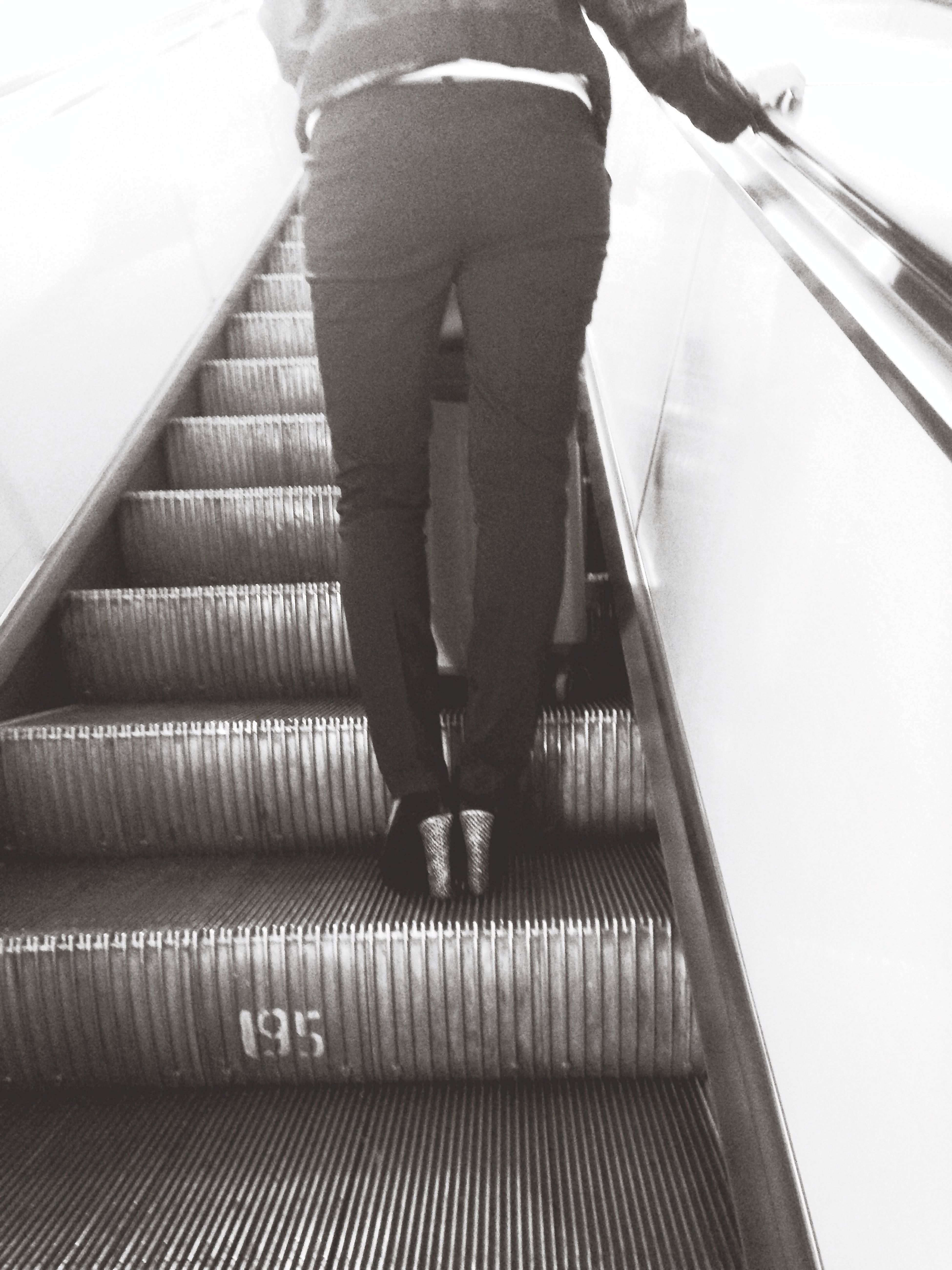 Subway Legs Girl Stairs
