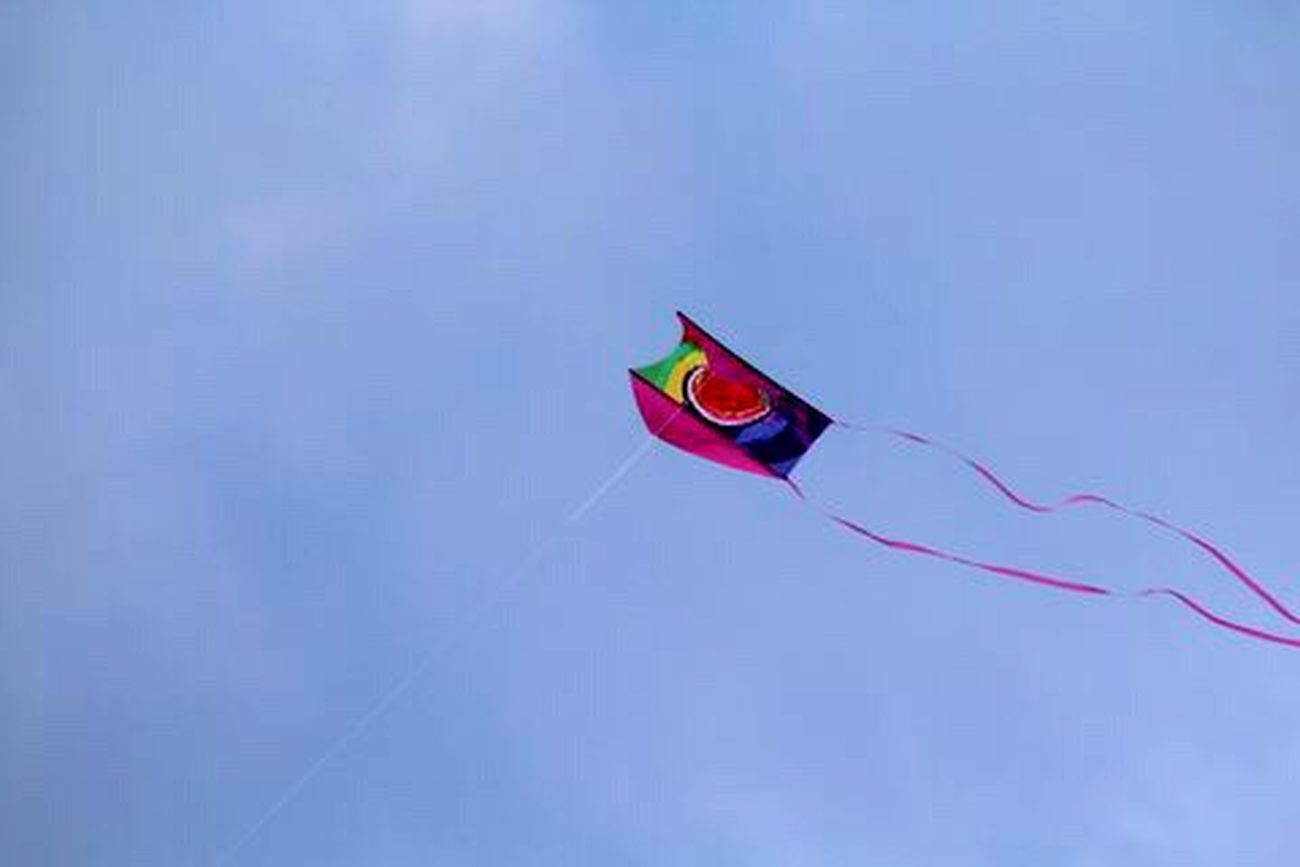 A Day At The Beach Flying A Kite Photography Sky Wind Colorful