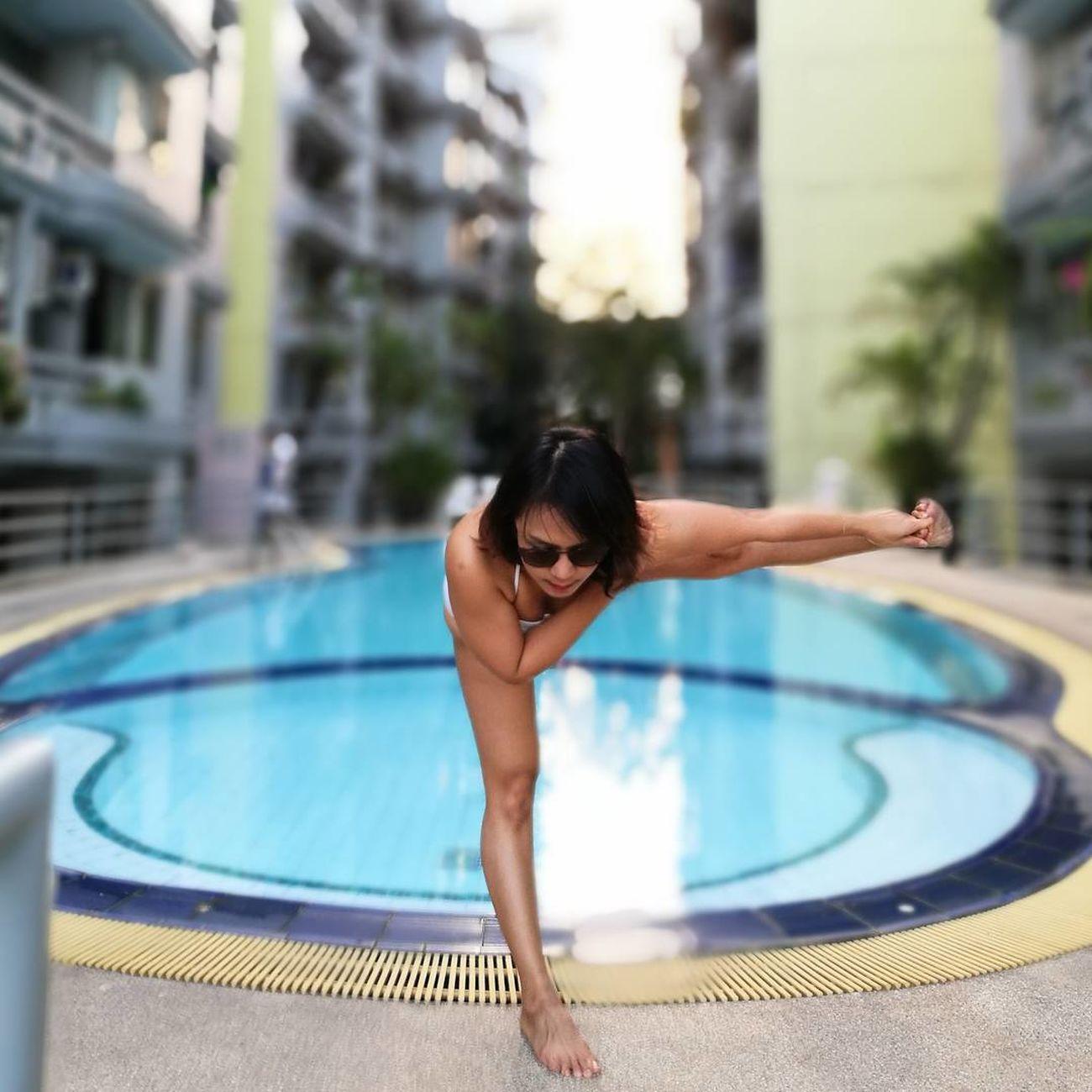 Yoga Leisure Activity Swimming Pool Happiness Yoga Pose Yogaeverydamnday Yogalove Yogini Yogagirl Yogatime Yogapractice Yogaeveryday Yogaeverywhere Yogainspiration