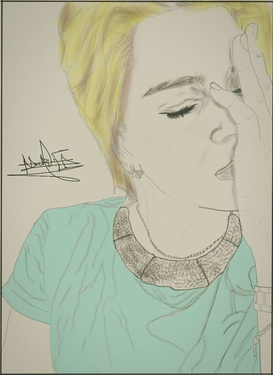 The day dreamer 😌💆 Drawing Pencil Portrait Scketchbook Beauty Young Coloredhair