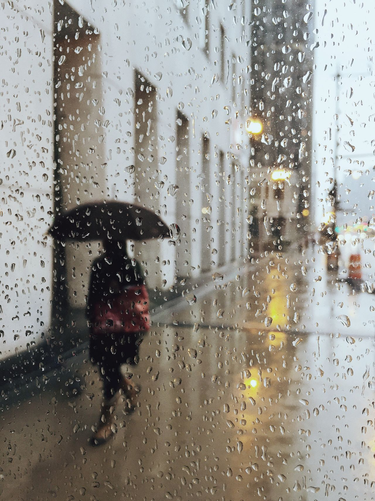 Rain Wet Glass - Material Window Weather Transparent Drop Rainy Season RainDrop Water Monsoon Transportation Vehicle Interior Car One Person Reflection Looking Through Window Torrential Rain Waiting Land Vehicle