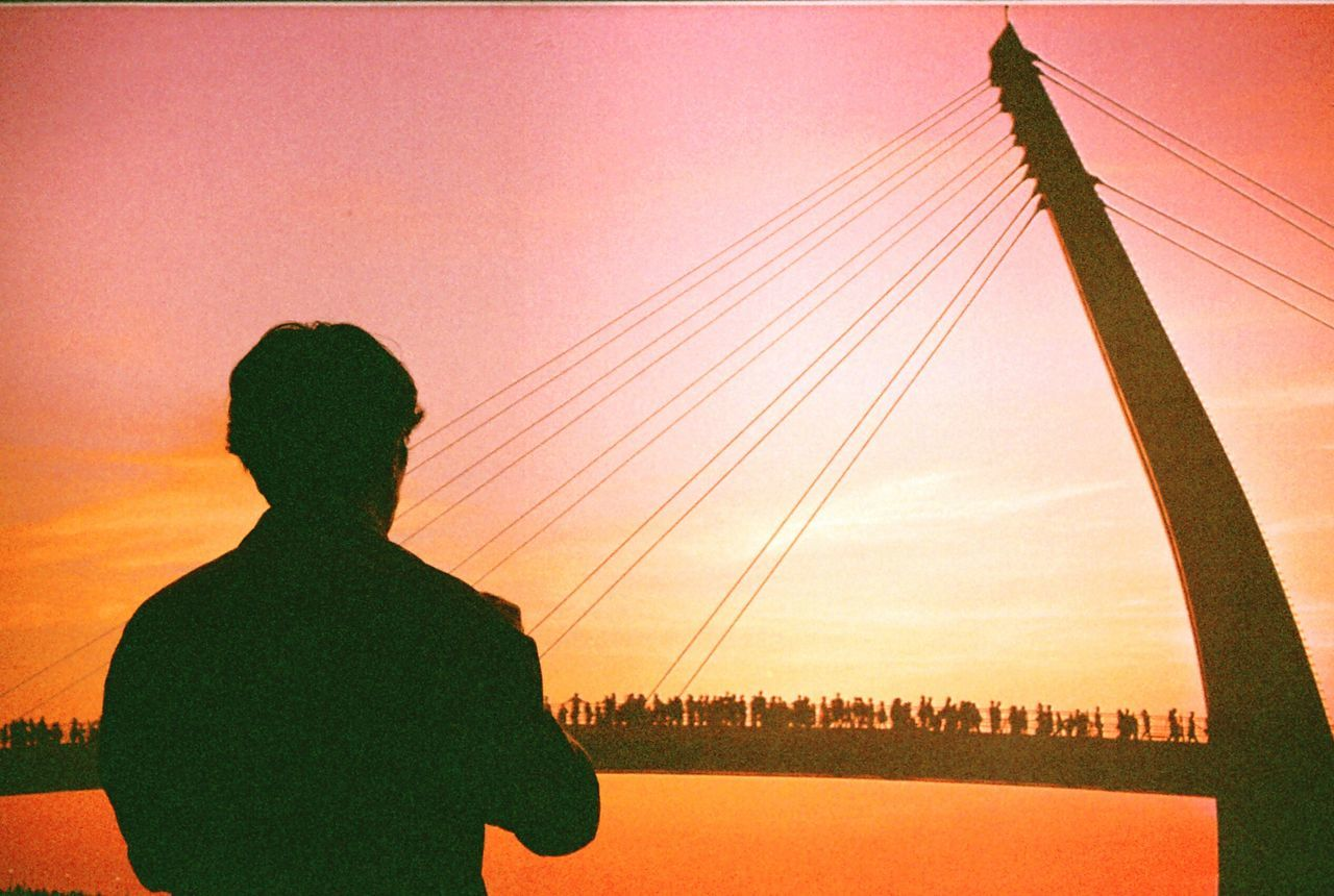 43 Golden Moments Golden Slumbers Film Film Is Not Dead Om10 Looking Into The Future Outdoors Sunset Sunset Silhouettes The Journey Is The Destination 35mm Film People Together Showcase July Hidden Gems  Battle Of The Cities My Favorite Place TakeoverContrast Finding New Frontiers Minimalist Architecture