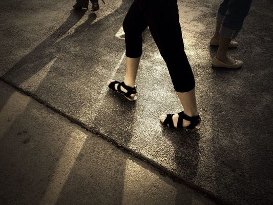 Other people's shoes at CW6 pickup point by 🍀irene.phoon🍀