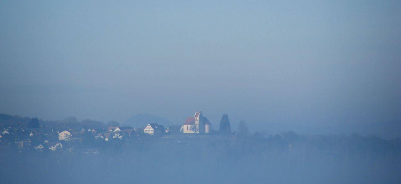 Distant Fog Hazy Shade Of Winter Journey Landscape Misty Remote Tranquility Weather