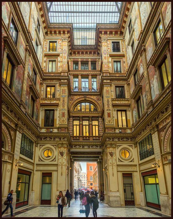 Architecture City Historic Panorama Rome, Italy Tonemapped Tourist Travel