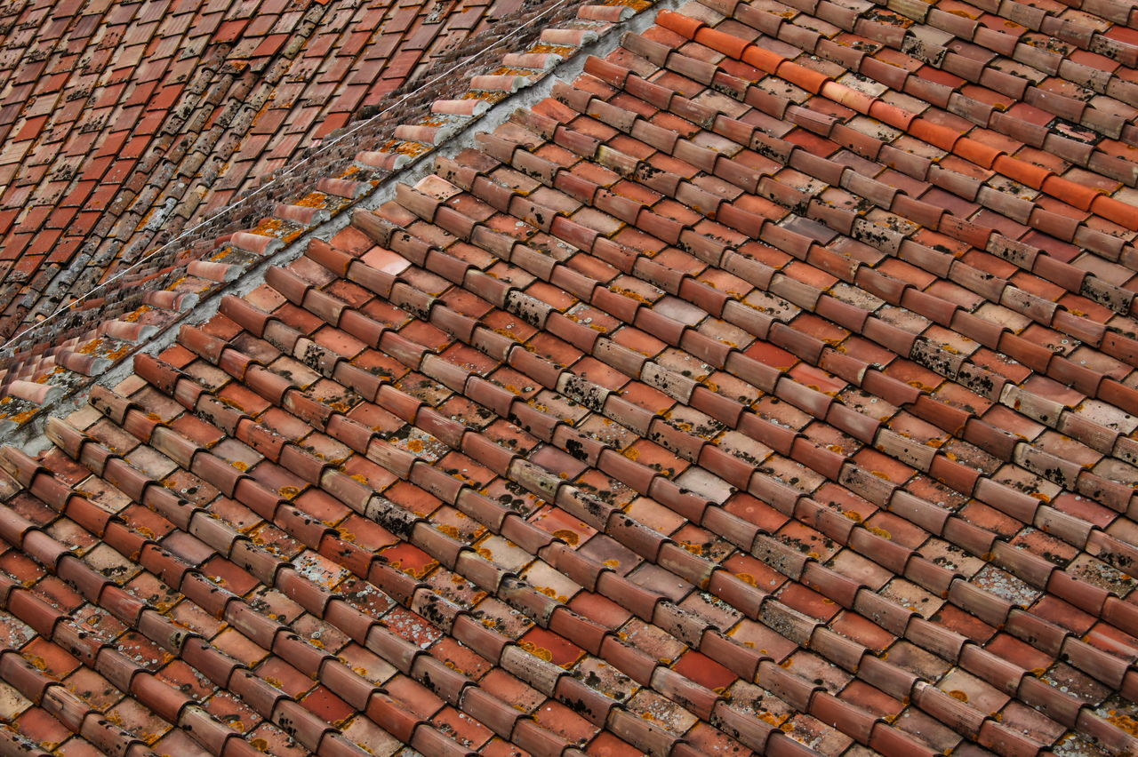 Close-up From Above  Full Frame Italy No People Orange Color Outdoors Repetition Roof Shingles Siena