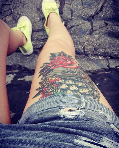First Eyeem Photo Tattoo Oldschooltattoo Legtattoo