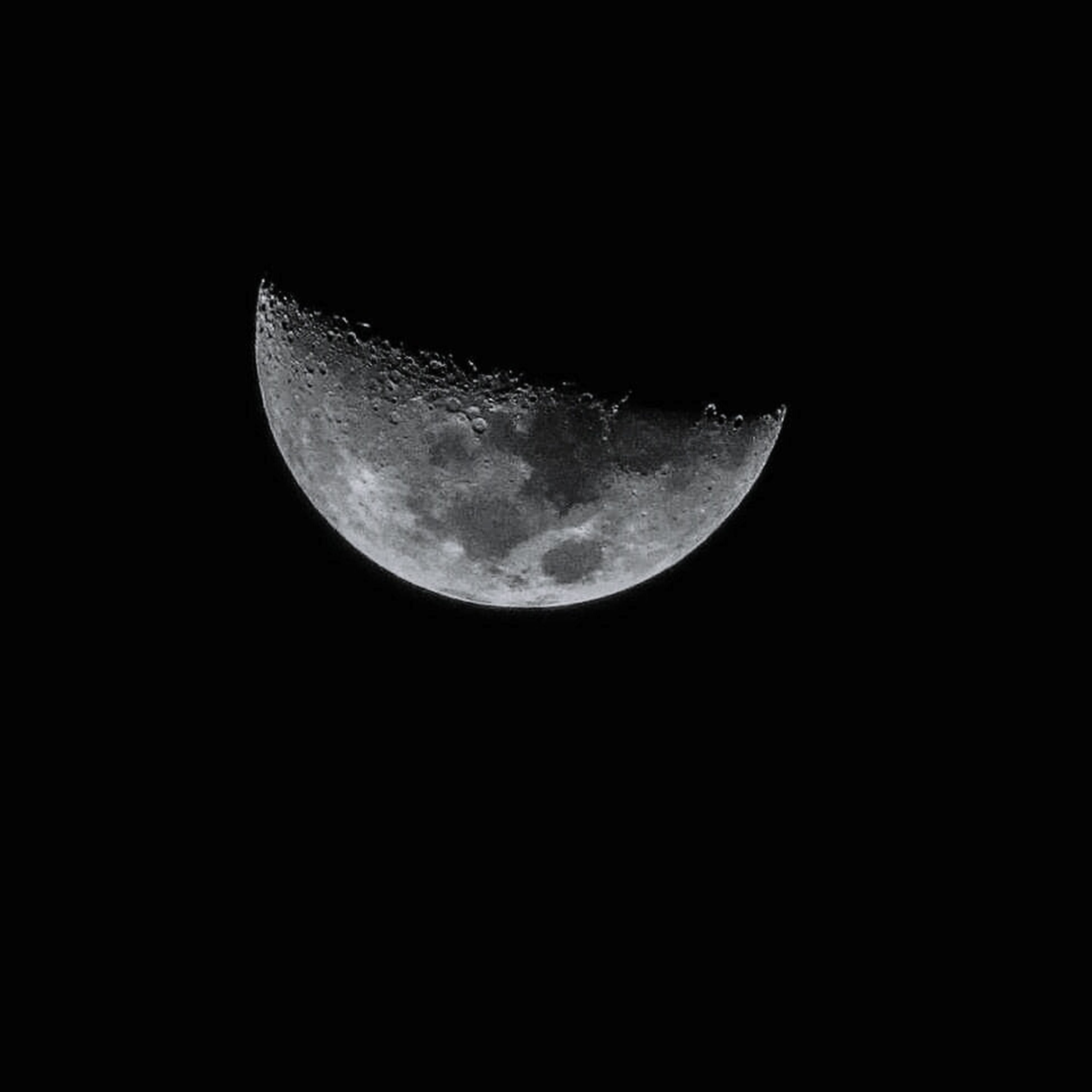 moon, night, astronomy, moon surface, beauty in nature, planetary moon, nature, majestic, scenics, low angle view, tranquility, tranquil scene, half moon, space, idyllic, sky, outdoors, discovery, space exploration, clear sky, no people, crescent, close-up