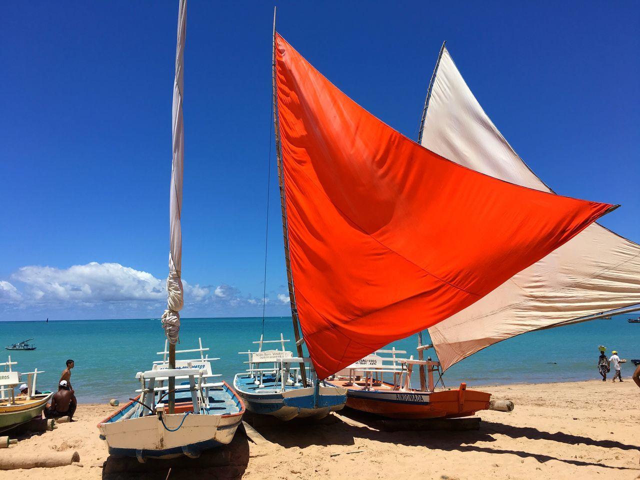 Beautiful stock photos of brazil, Beach, Beach Umbrella, Beauty In Nature, Blue