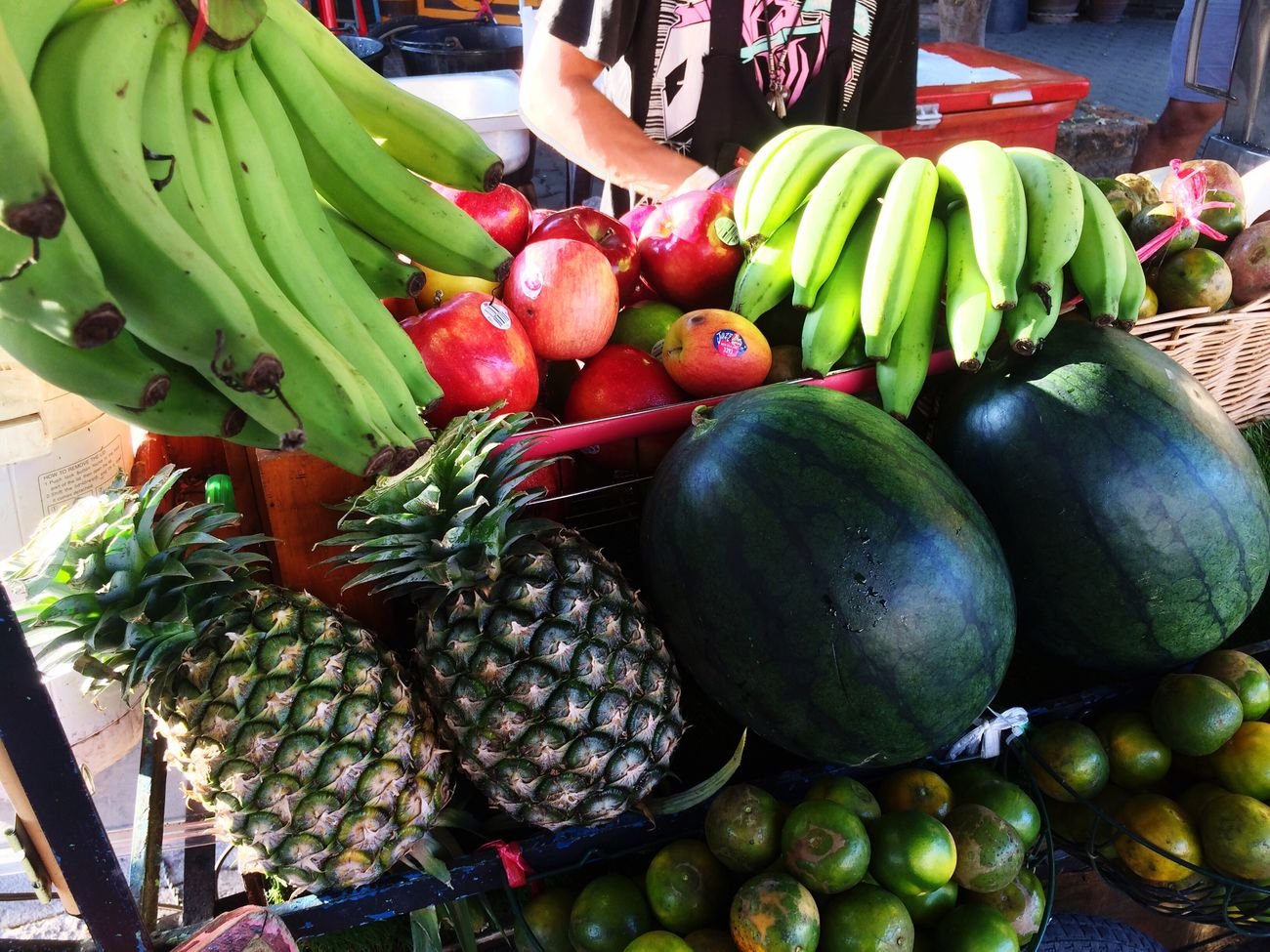 Food Food And Drink Freshness Healthy Eating Fruit Banana Vegetable Market Day Outdoors No People Water Melon Orange Green Close-up Thailand