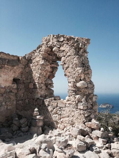 Old Ruin Rhodes Greece Atavyros