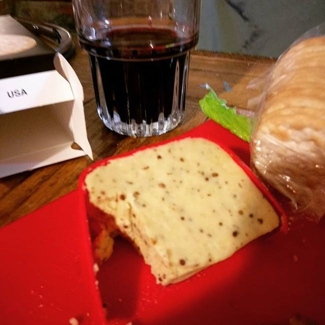 Hot mustard cheese and olives from Twin Forks. I love the way I love food. Foodporn Cheese Wineandcheese DontHateMe