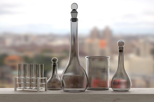 3d rendering of some laboratory pipettes on a window 3d Rendering Science Focus On Foreground Investigation Laboratory Pipettes Window Windows