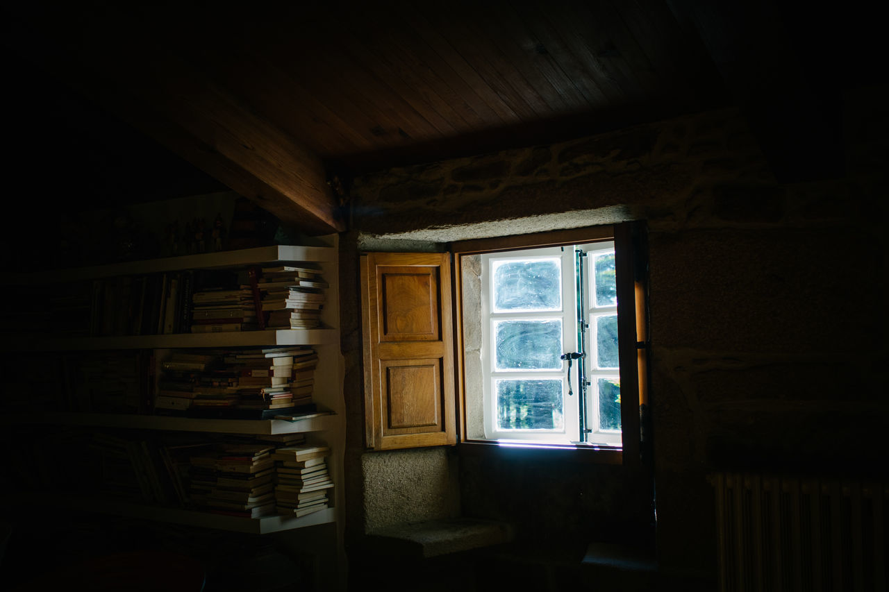 books, books, books Books Closed Curtain Dark Day Domestic Room Empty Hikinggalicia Home Is Where The Art Is No People Open Sunlight Window Wood - Material Place Of Heart