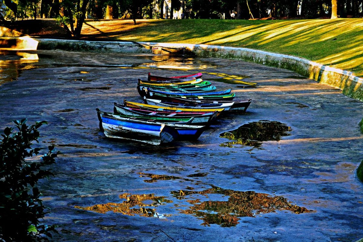 The boats and the dried lake Landscape Lake Boats⛵️ Portugal Bomjesus