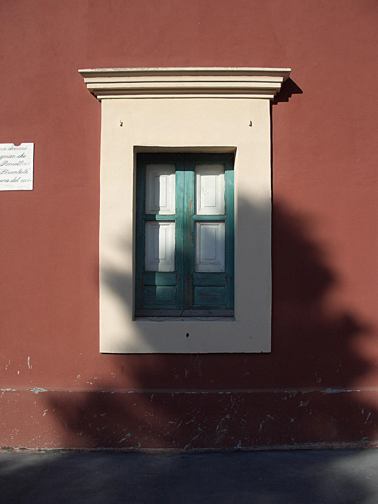 Architecture Eolian Islands Eolie Eolie Islands Ingrid Bergman Meditterranean Outdoors Red Stromboli Window