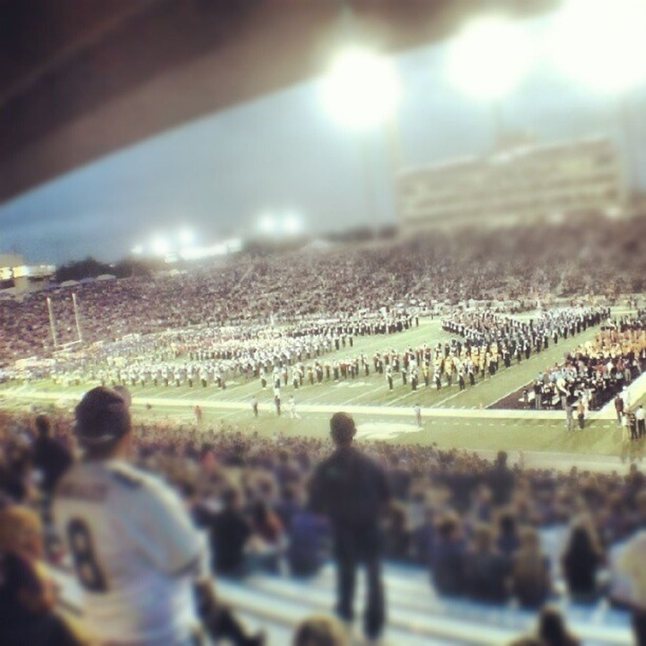 The bands :) Kansas State University Band Day