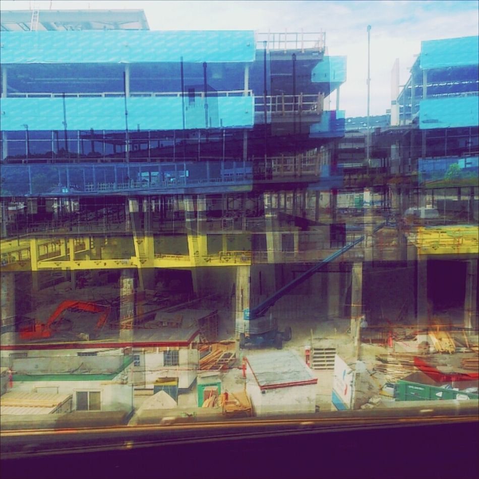 Double the construction, double the FUN Phoneography Andrography Wiseshark Doubleexposure