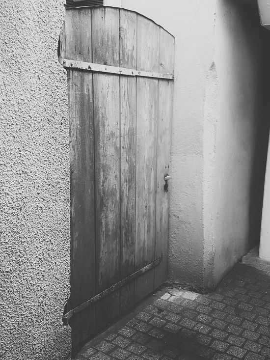 Door Wooden Door Simple Building Stone Wall White Black And White Blackandwhite Photography Black And White Collection  Come In Old Old Door Metal