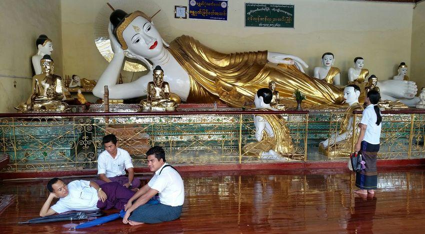 Altars Shrine Untold Stories Myanmar in Golden Rock Pagoda Men Bullies Gender Inequality Buddha Yangon, Myanmar Religious Architecture EyeEm Best Shots