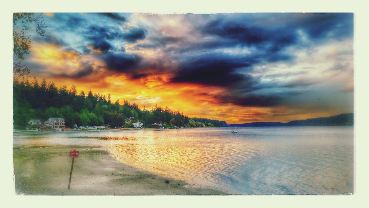 Seattle Sunset Bremerton Beach Illahee Fine Art Photograhy