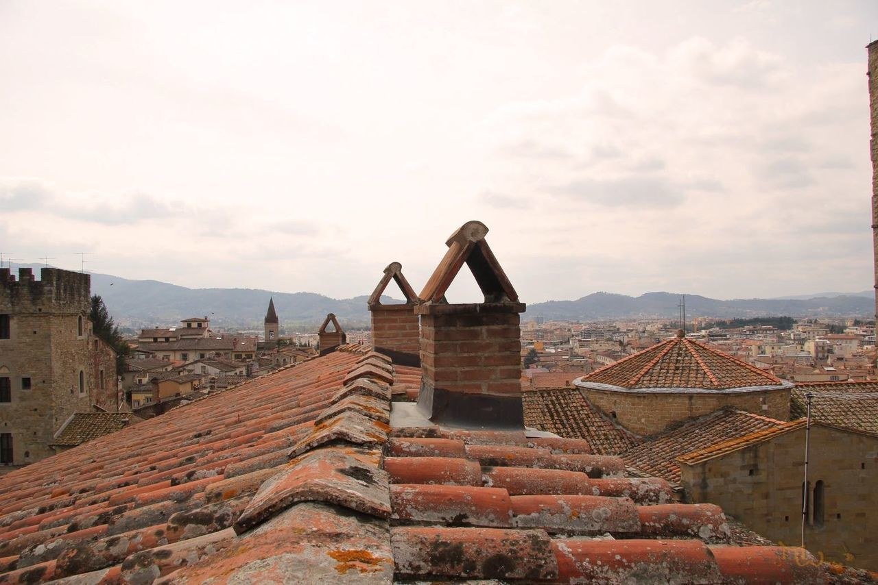 Chimney Culture High Angle View History House Italy❤️ Roofs Town