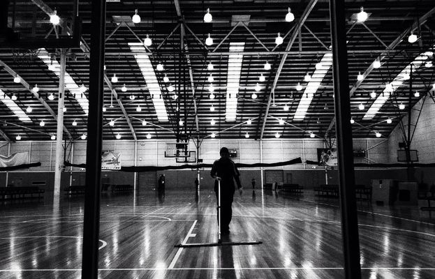 Basketball at Melbourne Sports & Aquatic Centre (MSAC) by Cassie